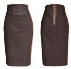 Modelos de falda con pretina alta  falda  modelos  modelosdeFalda  pretina 577d3186236b