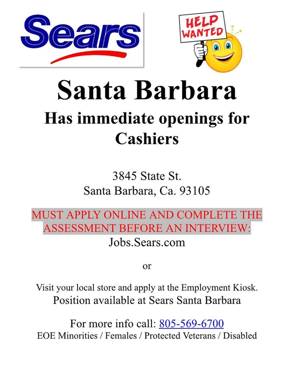 Sears Is Hiring Apply Online At Jobs Sears Com Apply Online How To Apply Career