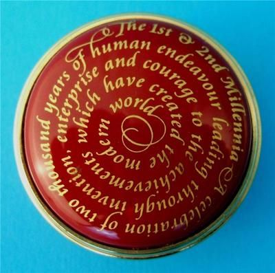 Halcyon Days Millennia Millennium Limited Edition Enamel Pill Trinket Box   eBay