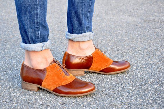 Womens Leather Oxfords, Classic Handmade Shoes
