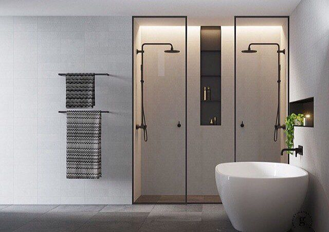 Amazing Double Shower In This Australian Modern Bathroom