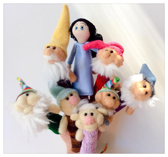 Finger Wool Puppets Snow White And The Seven Dwarfs