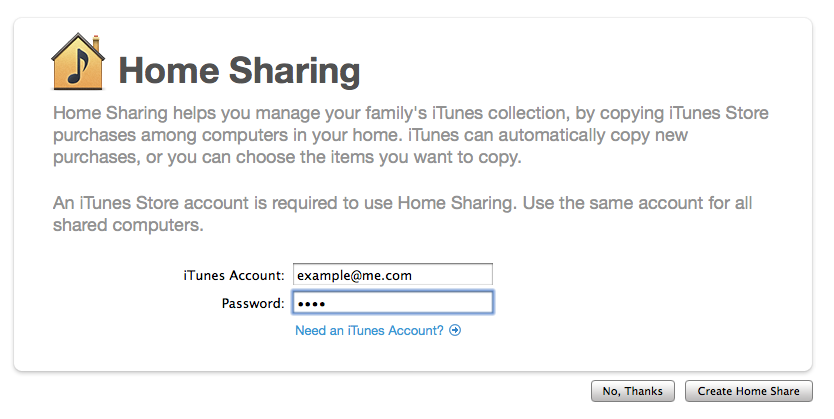How Do I Get To Home Sharing On Itunes