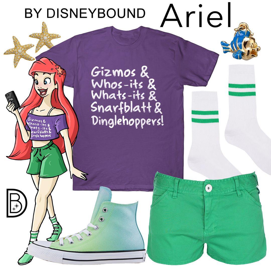 Illustration By Garrettmakesart Ralphbreakstheinternet Disneybound Thelittl Disney Bound Outfits Casual Modern Disney Outfits Disneybound Outfits Summer