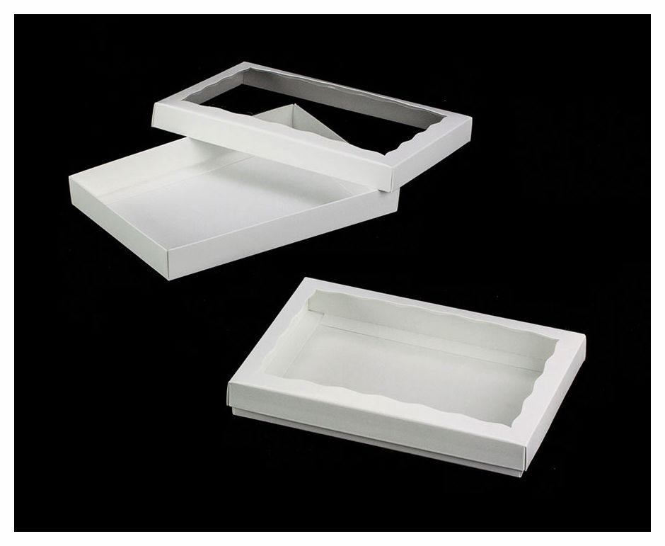 3522x3521 10 X 7 X 1 1 4 White White Two Piece Simplex Box Set With Window Cookie Box Oreo Box Cookie Decorating Icing