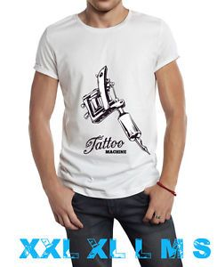 camiseta tattoo machine xxl xl l m s blanca t-shirt custom screen printing | eBay