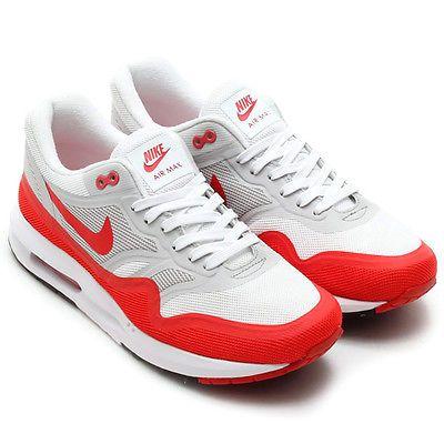 on sale 22b0d 57e43 Nike-Air-Max-Lunar-1-Mens-Shoes-White-Red-Grey-654469-101-OG