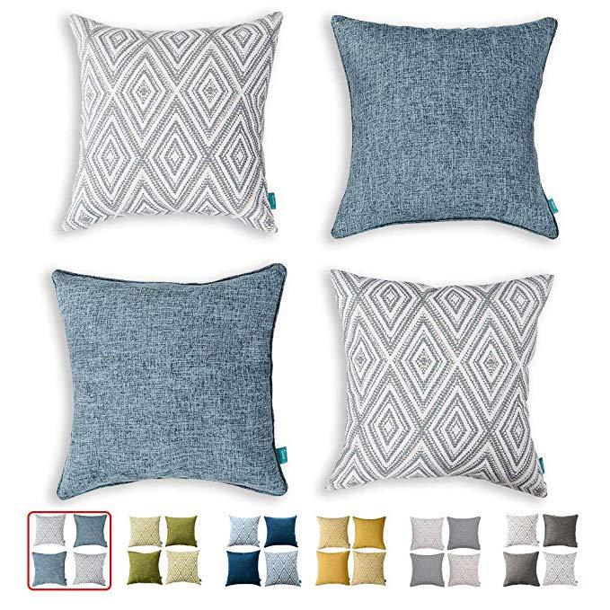 throw pillow cover navy throw pillows