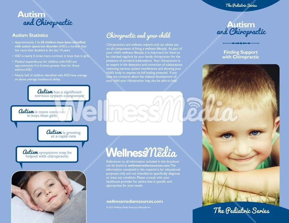Autism And Chiropractic Brochure Autism And Brochures - Asthma brochure template
