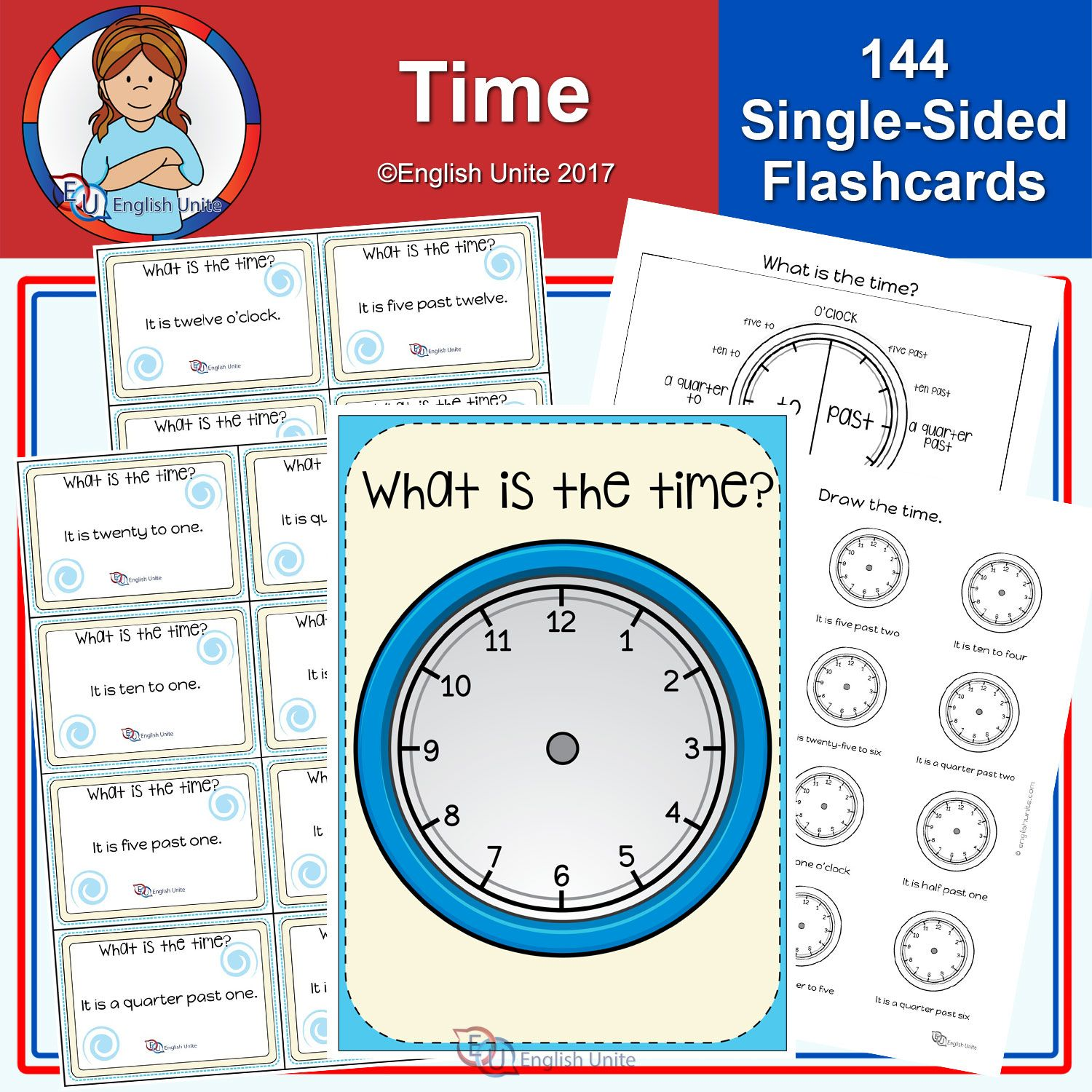 Time Poster Flashcards And Worksheets