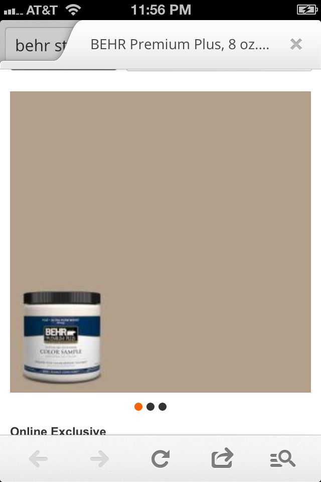 Behr Stepping Stone Paint Color