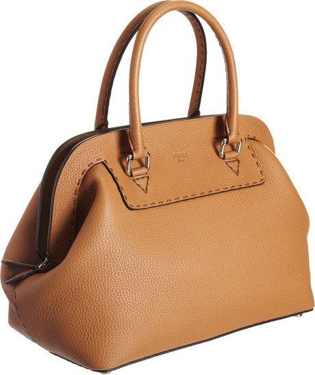 ff9ada843103 Fendi Large Selleria Doctor Bag in Beige (silver)