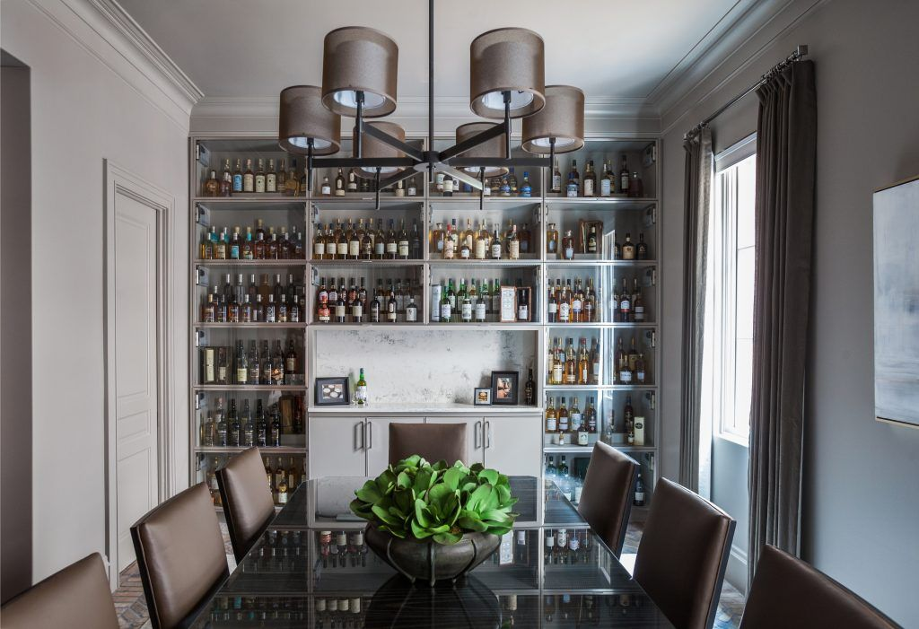 A Tailored Home Tour Flashback Friday Marie Flanigan Interiors Dining Room Built Ins Dining Room Bar Dining Room Contemporary