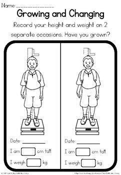 Growing And Changing Observation Worksheet In