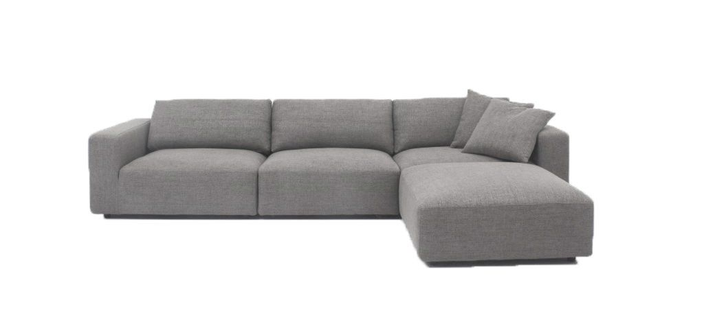 Harley L Shaped Sofa With Ottoman Light Grey L Shaped Sofa Ottoman Sofa Couch Furniture