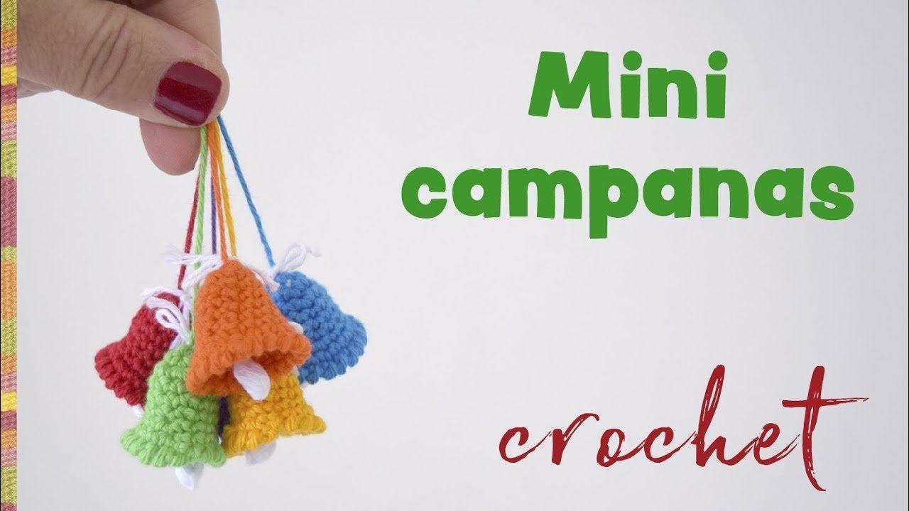 Mini campanas tejidas a crochet - Despedida / Tejiendo Perú | Tejido ...