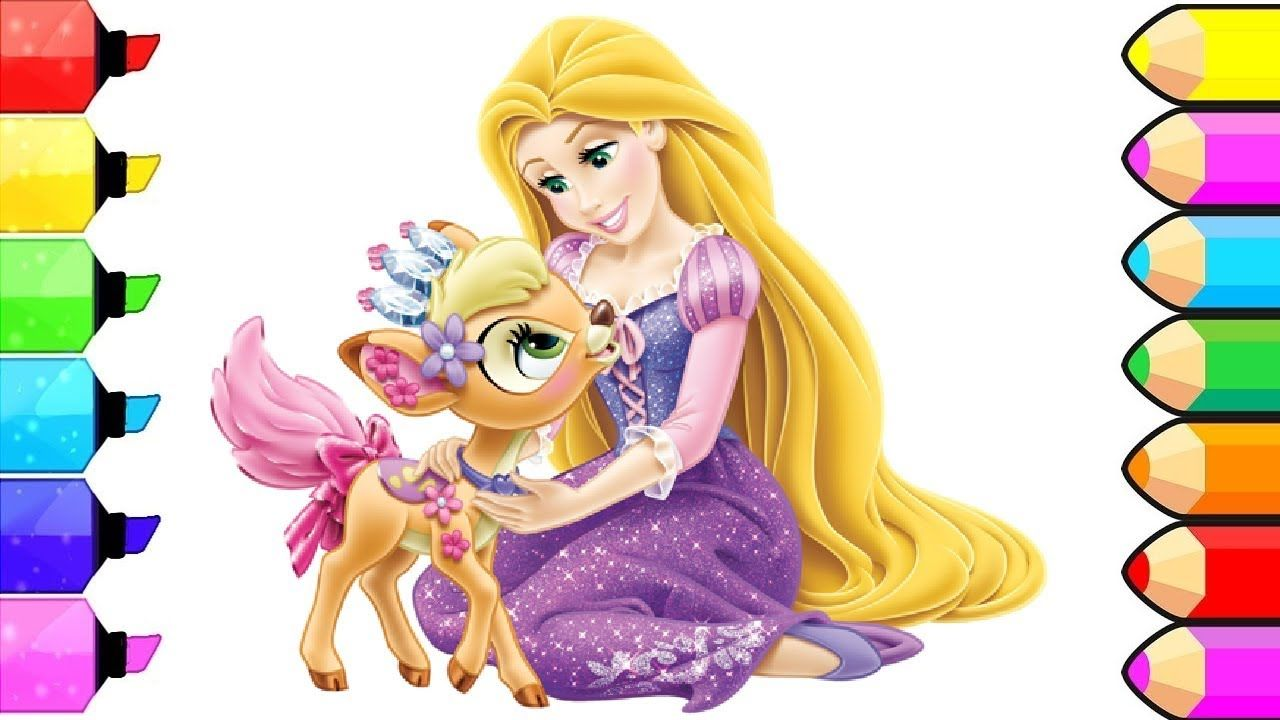 Coloring Book Disney Princesses Rapunzel Pages L Kids Drawing And
