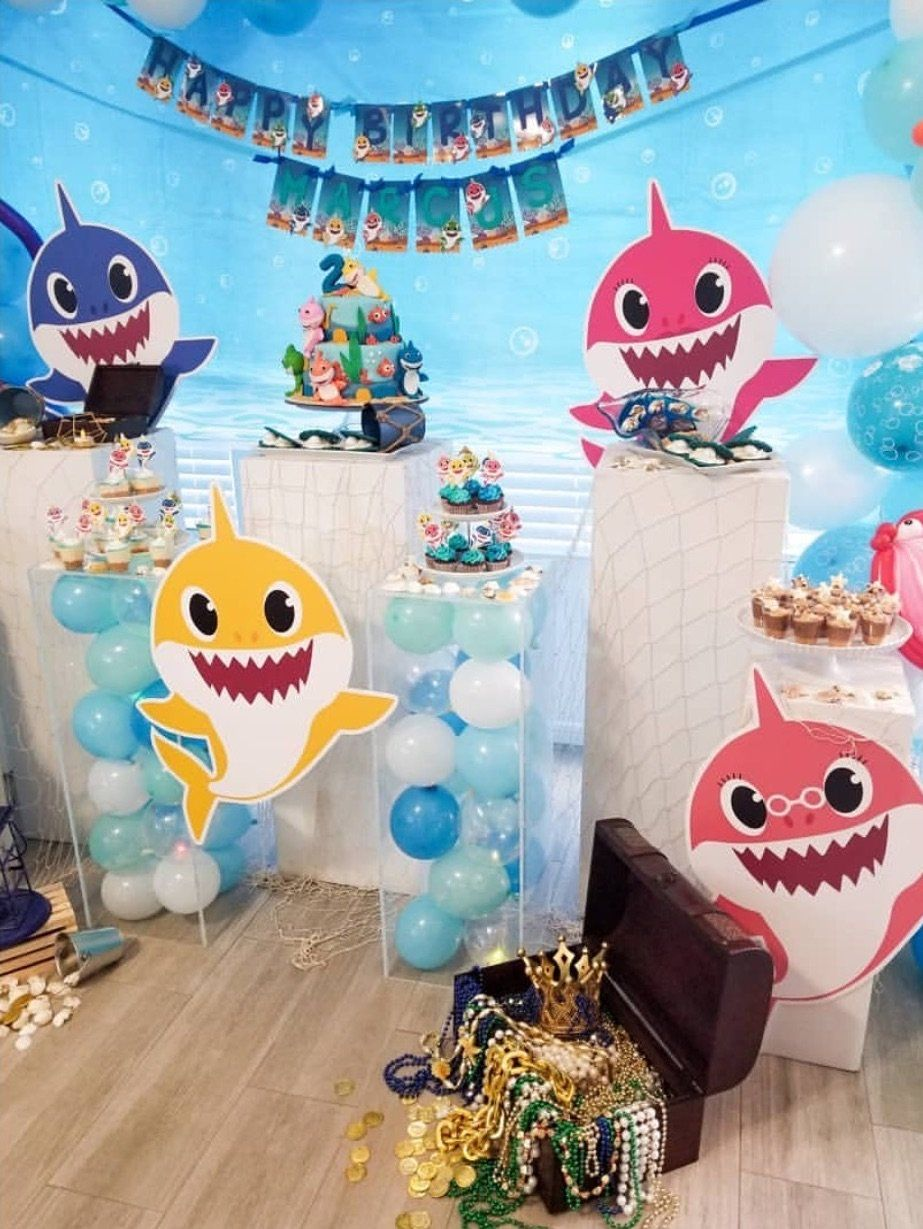 """13 """"Baby Shark"""" Birthday Party Ideas For Your Kiddo in"""