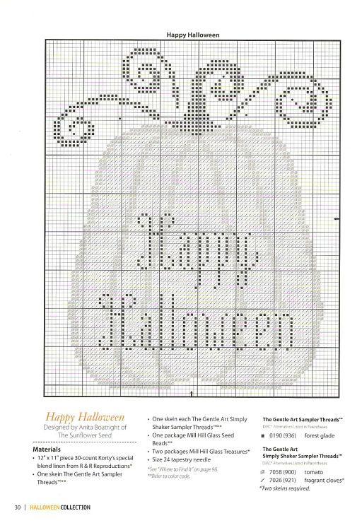 Halloween pumpkin cross stitch Gallery.ru / Фото #26 - 793 ...