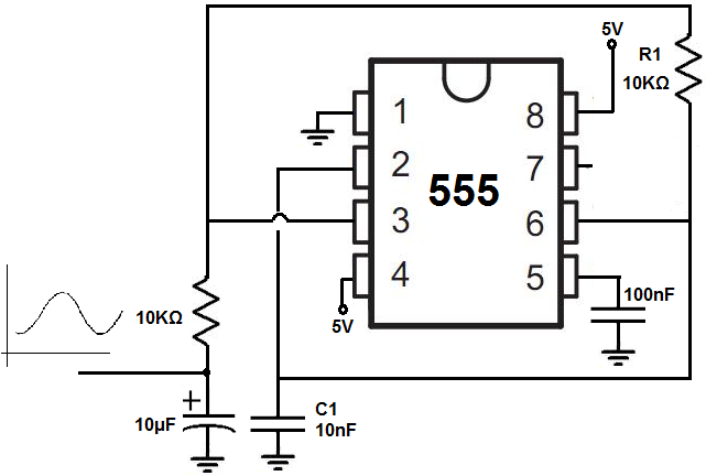 Sine wave generator circuit with 555 timer | tech electronic