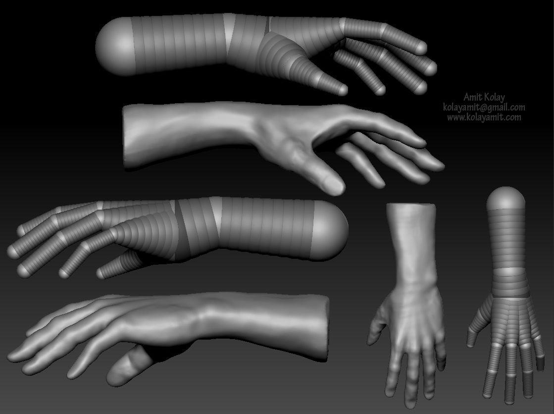 Hand study 3D model | z-sphere | Pinterest