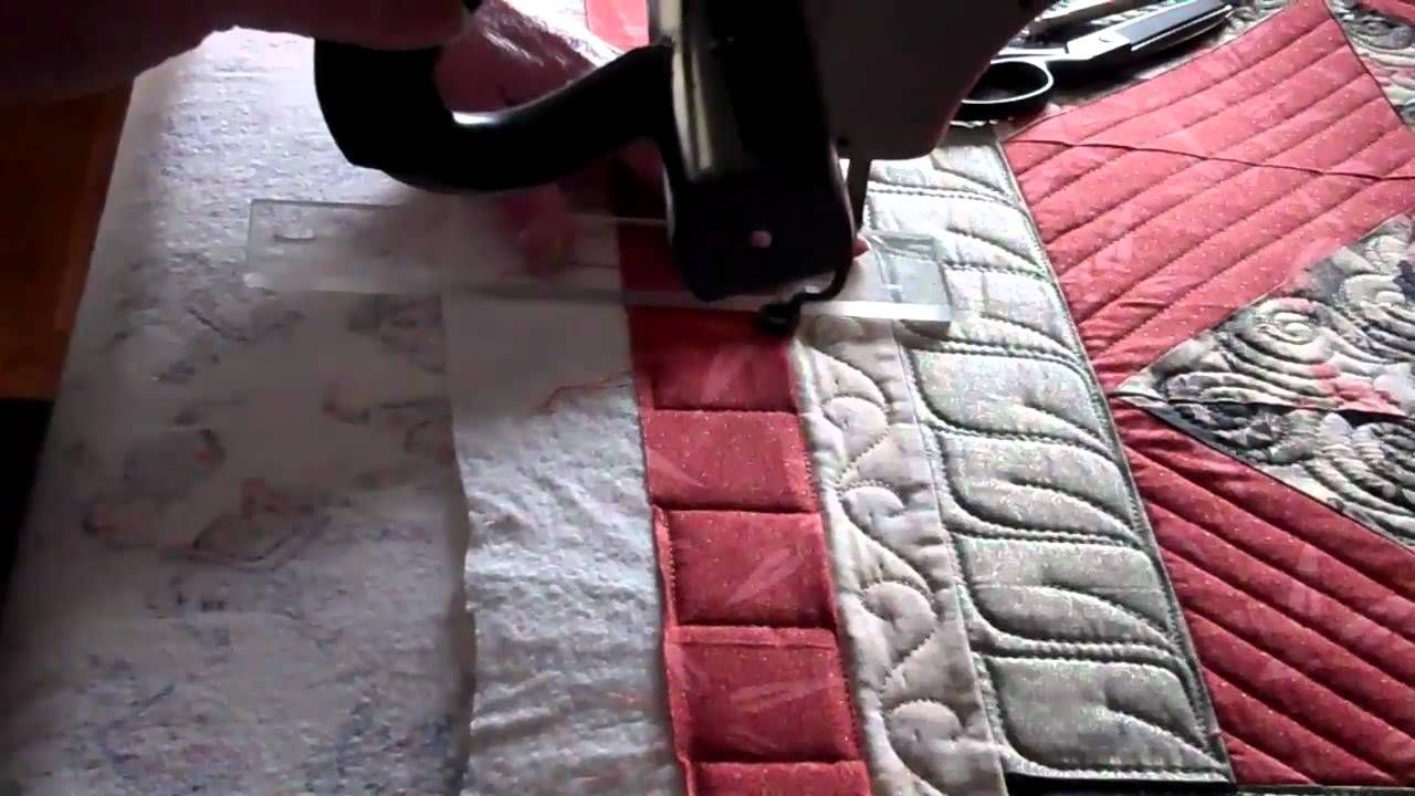 Quilting Large Piano Key Border Fill Using Straight Template