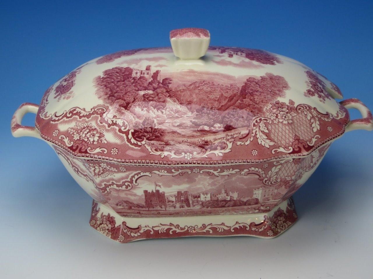 Johnson Brothers Old Britain Castles Pink/Red Transferware - Soup Tureen picclick.com & Johnson Brothers Old Britain Castles Pink/Red Transferware - Soup ...