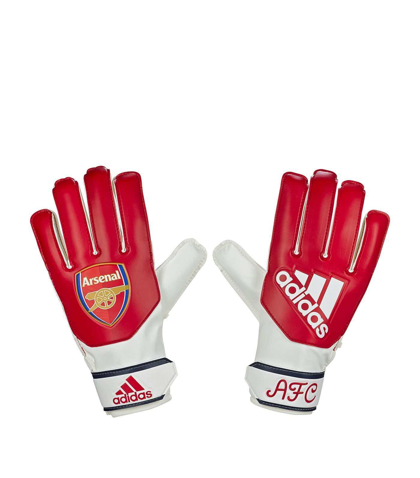Kids arsenal football gloves in red