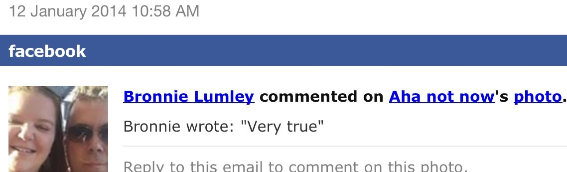 """Comment posted on my site """"Aha Not Now"""""""