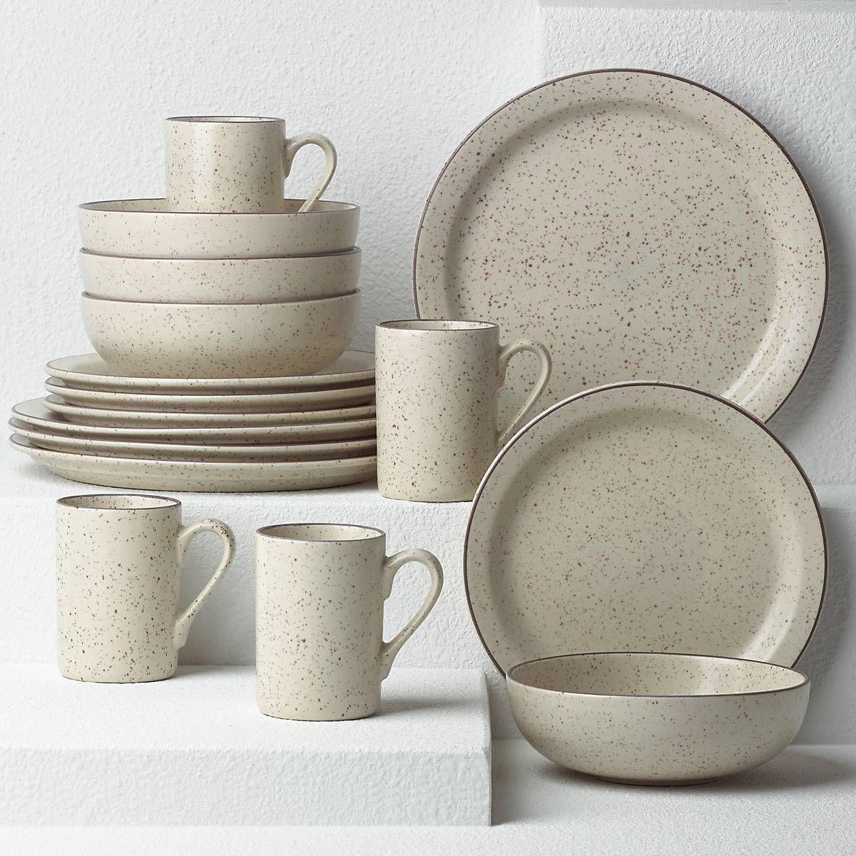 Kallan 16pc Dinnerware Set In 2020 Ceramic Dinnerware Set Dish Sets Dinnerware Rustic Dinnerware