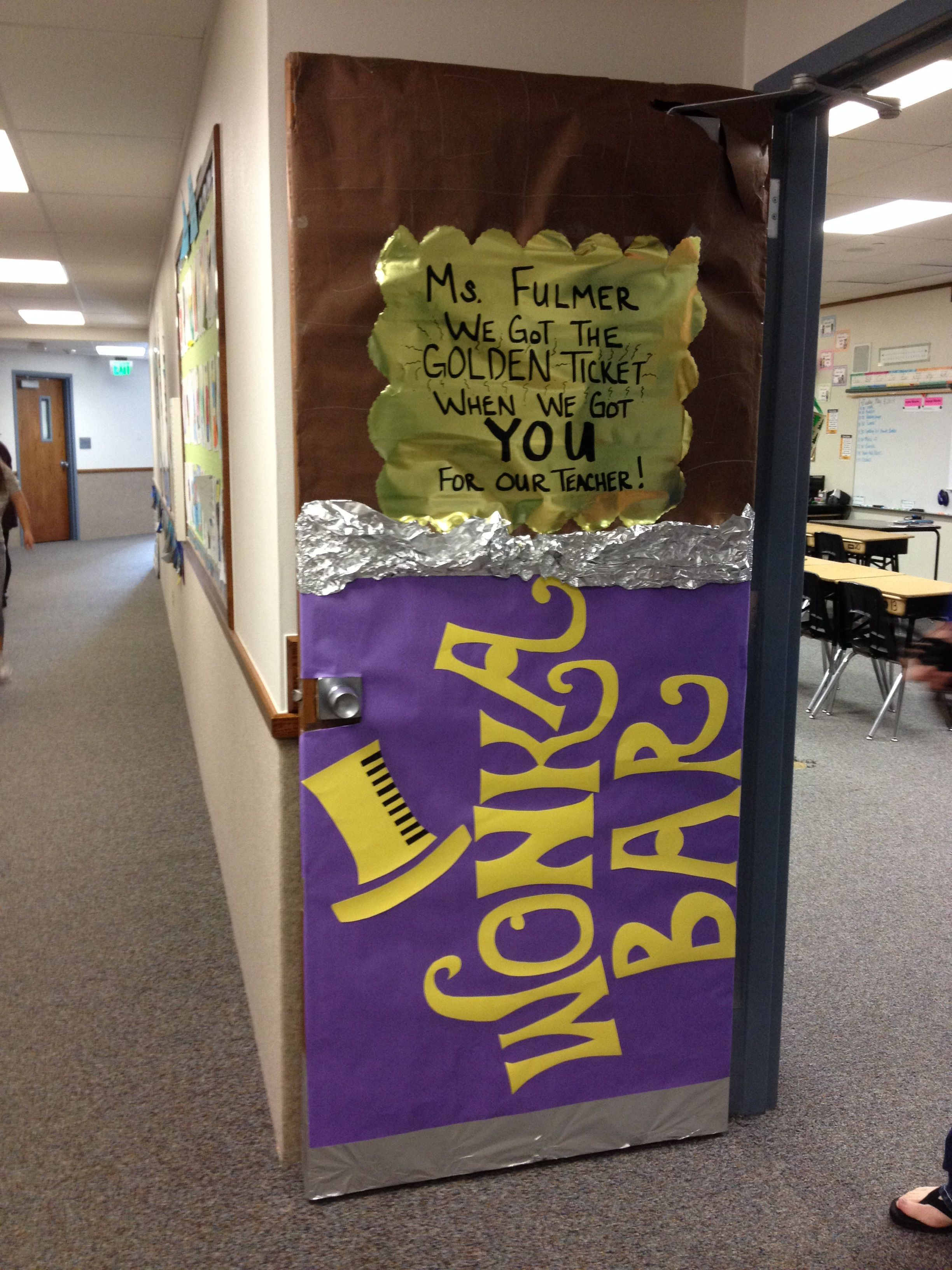 Willy Wonka -Teacher Appreciation Door #custodianappreciationgifts
