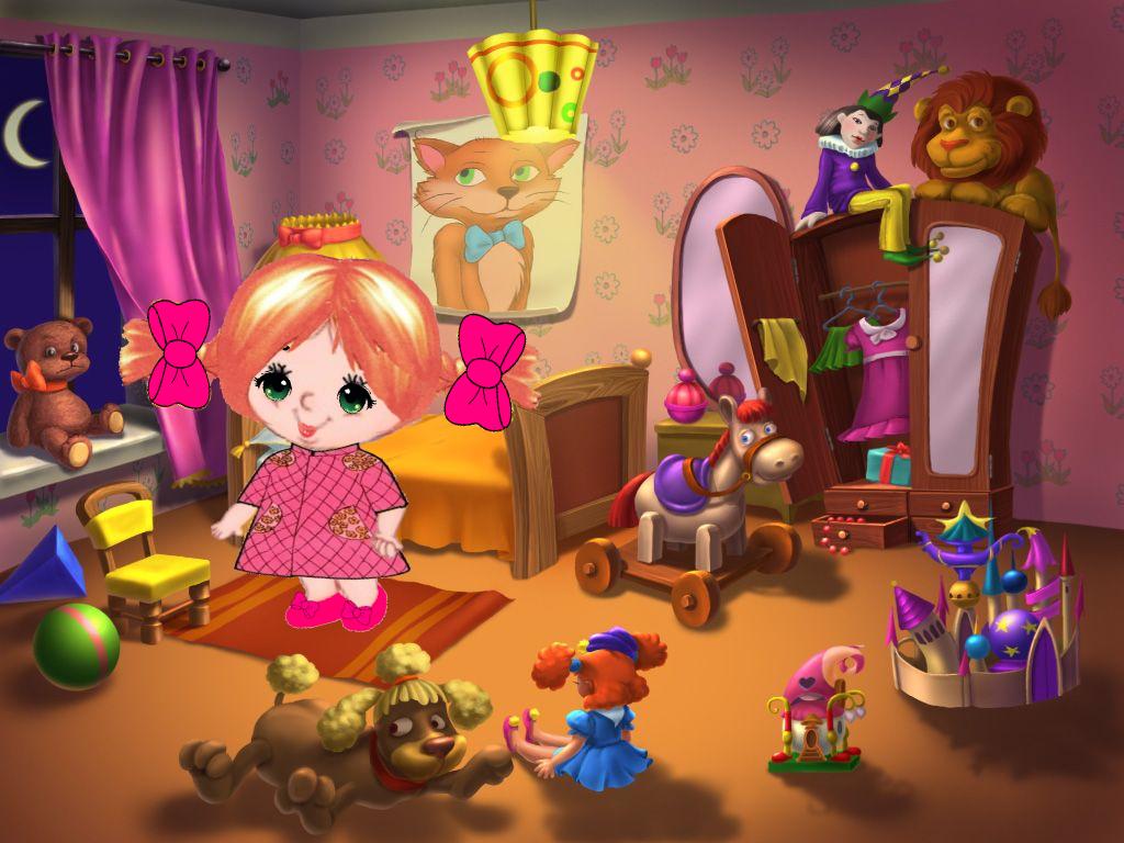 Картинка детской комнаты с игрушками, днем рождения