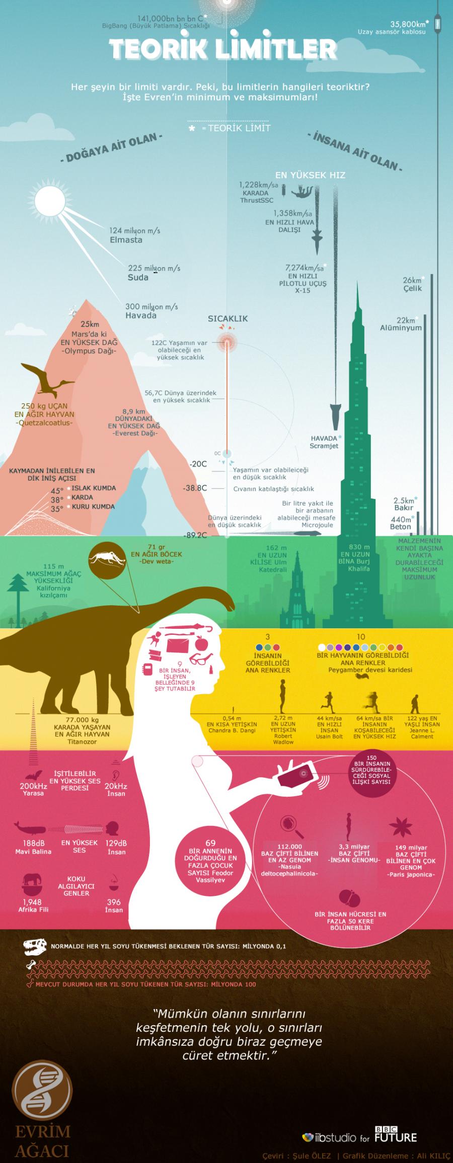 Doğanın ve İnsanların Teorik Limitleri: Kapsamlı Bir ''En''ler Listesi! – Evrim Ağacı