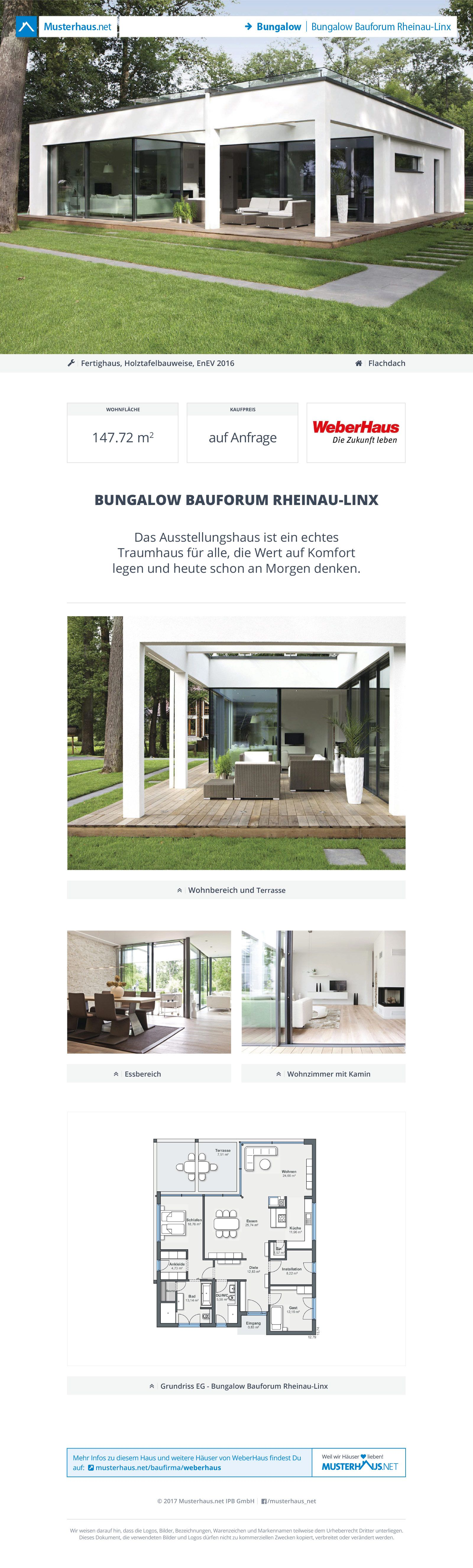 bungalow bauforum rheinau linx modern homes haus bungalow und weber haus. Black Bedroom Furniture Sets. Home Design Ideas
