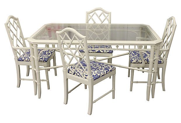 Thomasville Faux Bamboo Dining Set 1