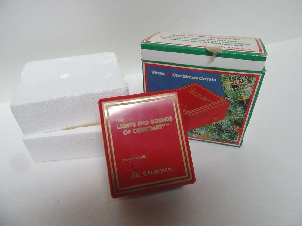 1985 Mr Christmas The Lights Sounds Of Christmas Music Box Plug