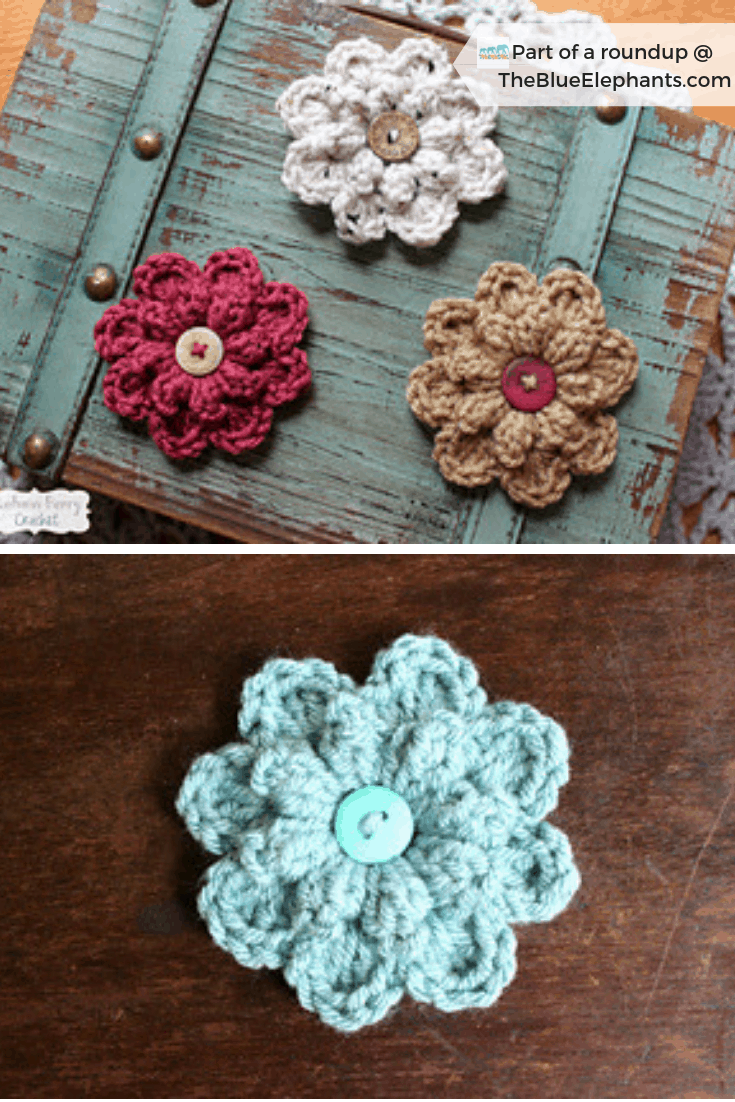 20 Free Patterns for Crochet Flowers & What to Do with Them #crochetedflowers
