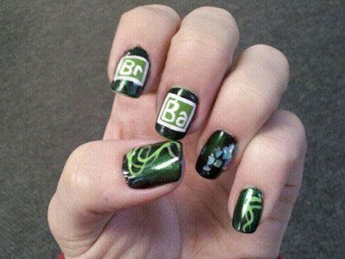Breaking Bad Nail Art Makeup Pinterest Breaking Bad Manicure