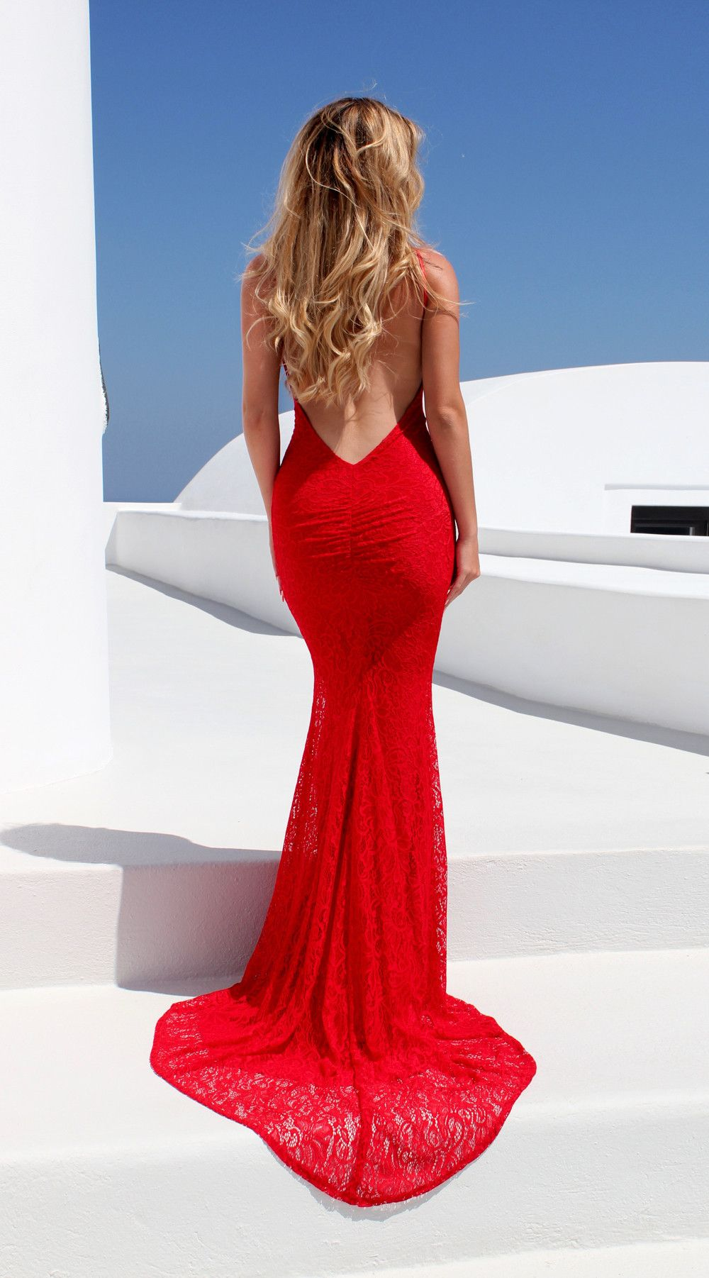 Reckless red fishtail gowns and prom