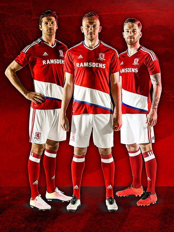 11d97e977c3 Middlesbrough 16-17 Premier League Kits Released - Footy Headlines ...