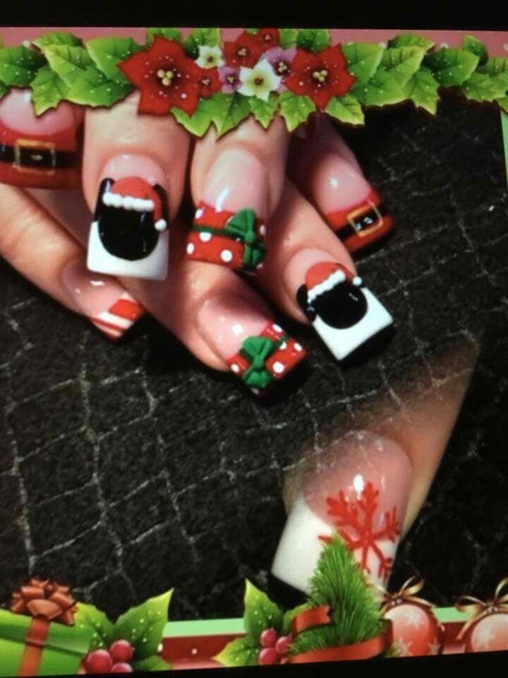 Disney Christmas Nails
