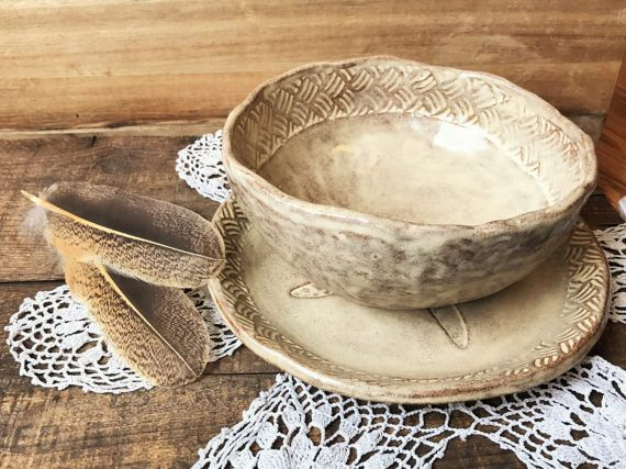 Rustic Lunch Set Soup / Salad Bowl u0026 Sandwich Plate Rustic & Rustic Lunch Set Soup / Salad Bowl u0026 Sandwich Plate Rustic | pottery ...