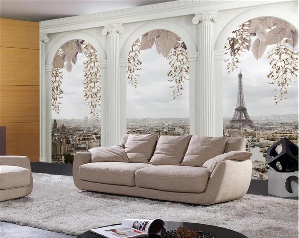 Gunstige Individuelle Fototapeten 3d Vliestapete Paris Landschaft