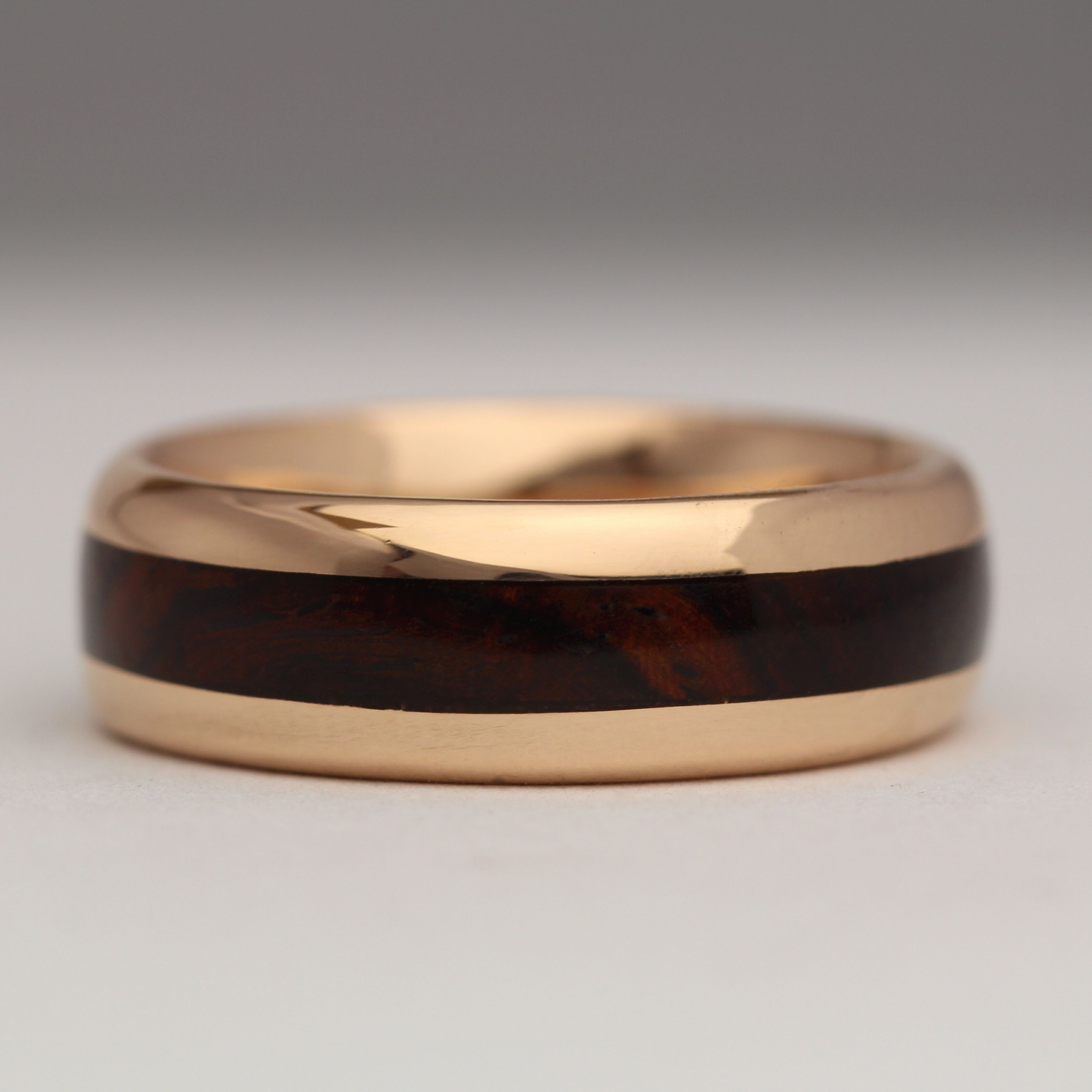 Beautiful 18ct Rose Gold And Wood Ring Www Justind Co Uk Pearl