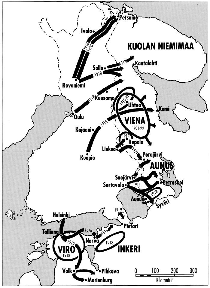 The expeditions 1919-1921