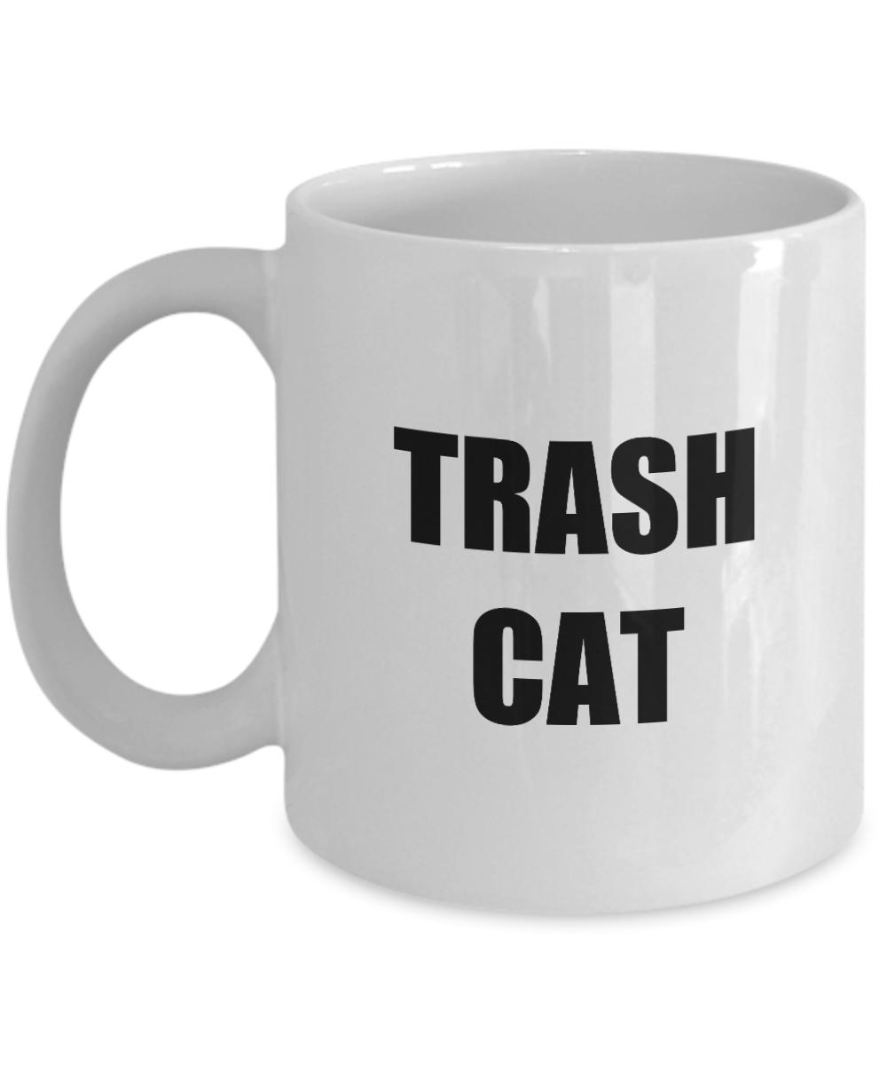 Trash Cat Mug Funny Gift Idea for Novelty Gag Coffee Tea Cup