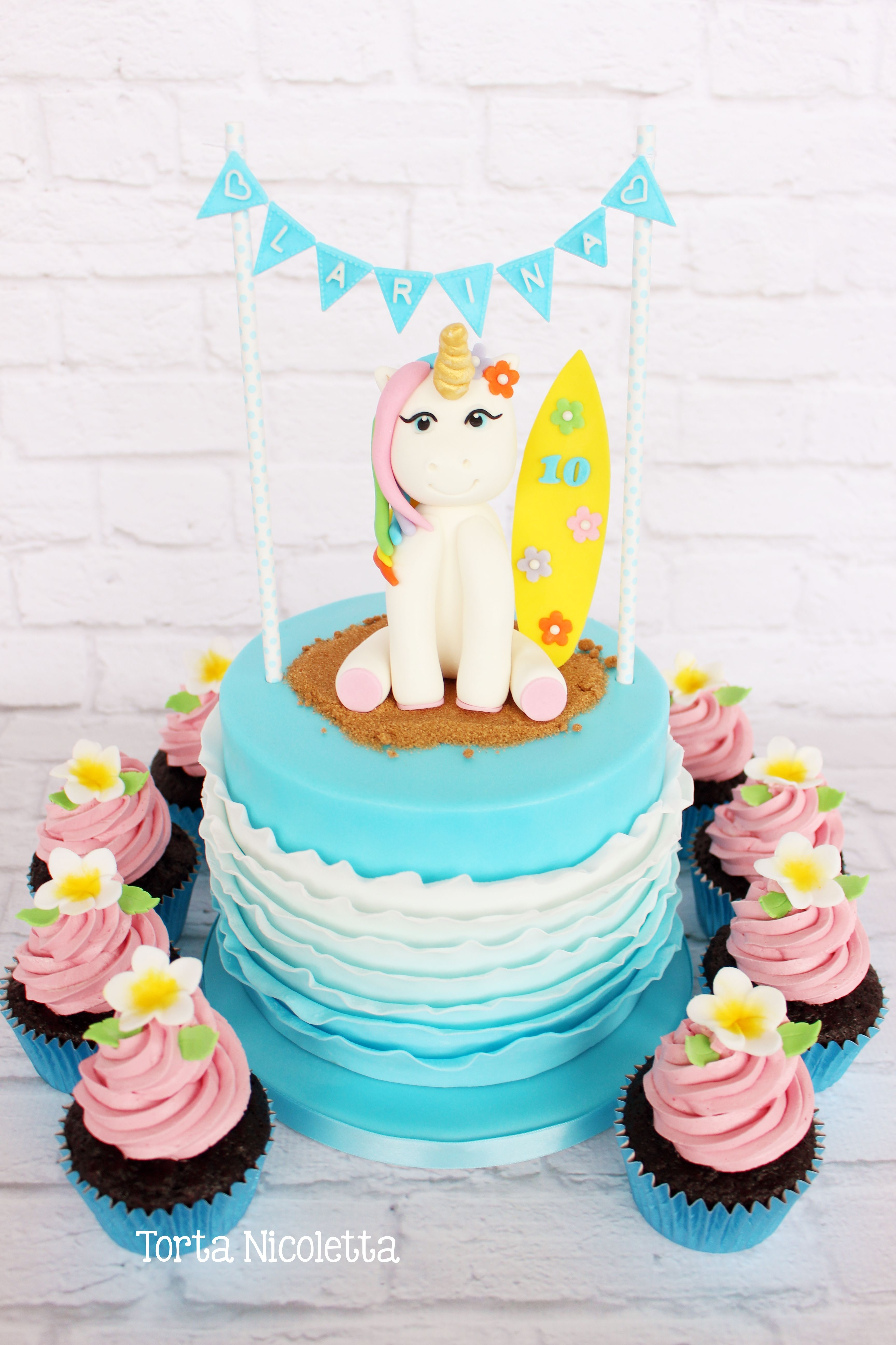 Surfing Unicorn Cake Unicorn Cake Unicorn Cake Decorations Unicorn Birthday Cake