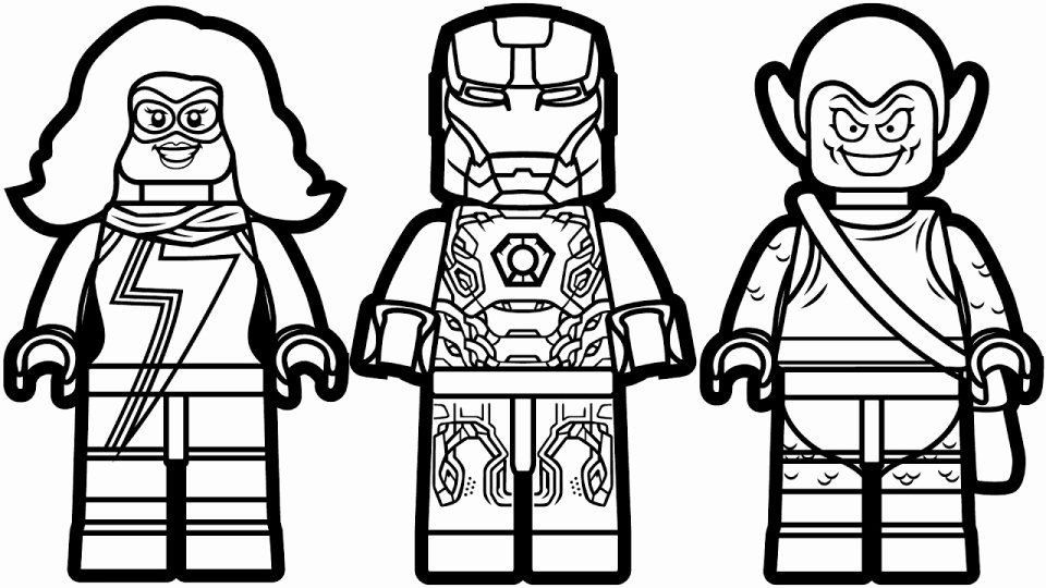 Awesome Lego Marvel Superhero Coloring Pages - Oracoloring