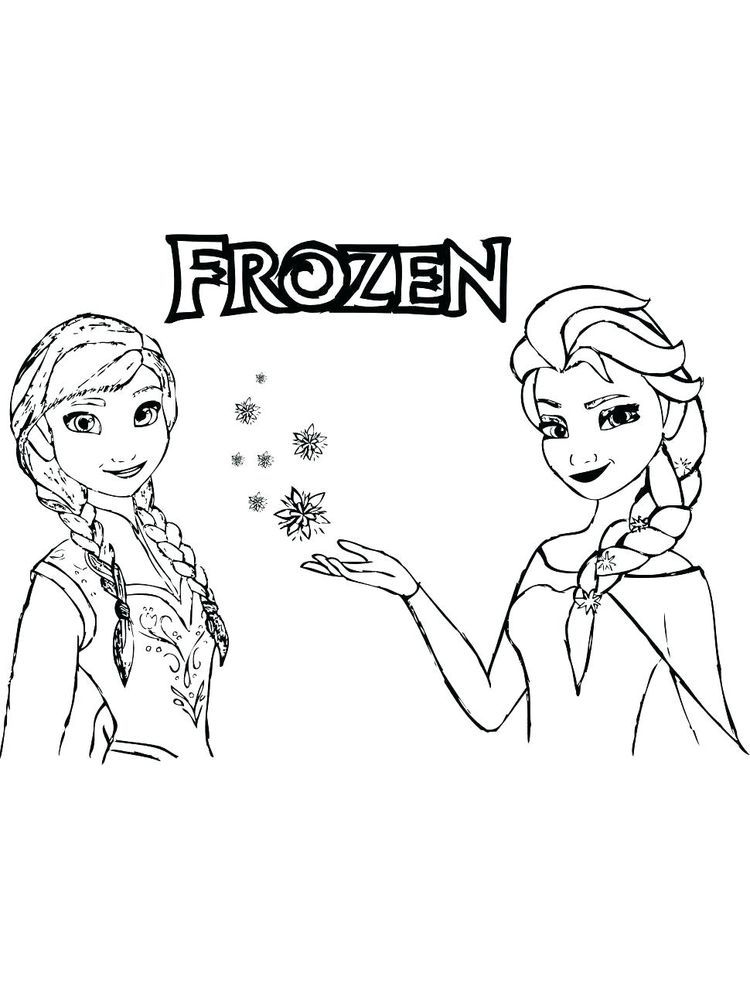 Printable Frozen Coloring Pages For Kids Free Coloring