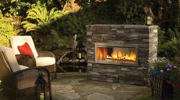 regency horizon hzo42 contemporary outdoor gas fireplace look